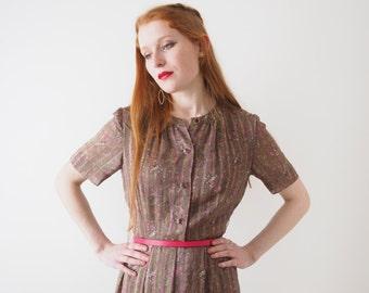 Kelly, olive paisley vintage dress, Japan, small - medium