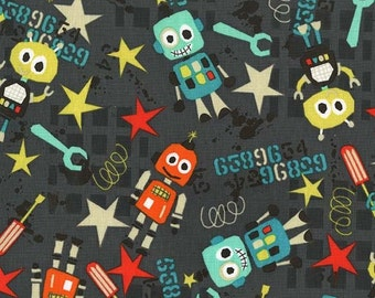 Bot Boy in Graph by Michael Miller Fabrics - your choice of cut