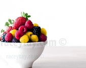 Food Photography, Fruit, White, Colorful, Kitchen Print, Modern, Food Photo, Still Life, Kitchen Art Print