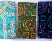 Custom Order for Barbara Rice: 3 Eyeglass Cases Quilted Batik Decorative