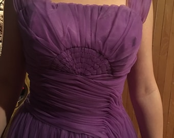 Emma Domb Purple Party Prom Dress 1950s