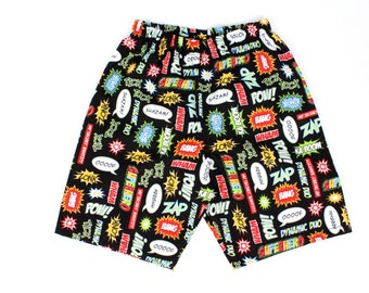 Boy's Comic Superhero Shorts