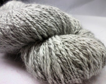 Grey Handspun  Pure Angora Natural Color