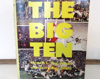 The Big Ten, 1967 book, collegiate sports, great gift, collectible and rare