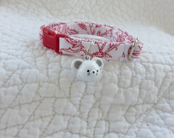 Cat Collar with bell  Cat  Breakaway Collar Custom Made