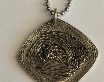 Surfer's Necklace - Ready made and quick ships in 24 hours Crashing Wave on a Coral Bed