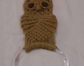 Macrame Owl Towel Holder