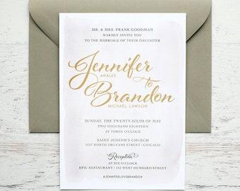 Analee Custom Wedding Invitation
