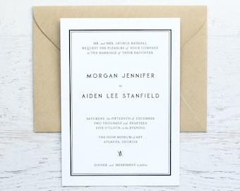 Morgan Custom Wedding Invitation