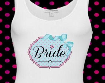 Bride Printable Iron on transfer - Digital image