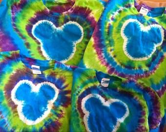 ADULT UNISEX Custom Tie Dye Shirt size Small-XL You Choose Colors