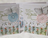 True Friends Leave Footprints In your Heart Butterflies and Flowers Note Cards Set of 7