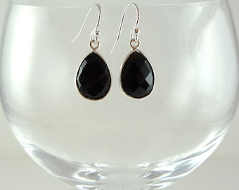 Onyx Earrings Black Onyx Drop Earrings Black Onyx Sterling Earrings Onyx Gemstone Earrings Onyx Silver Earrings Black Onyx Drops