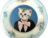 "Katie, portrait plate - Altered Vintage Plate 9.75"""