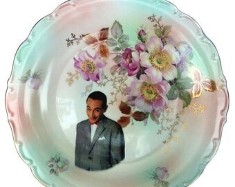 ON SALE Pee-wee Herman Portrait Plate - Altered Vintage Plate 12""