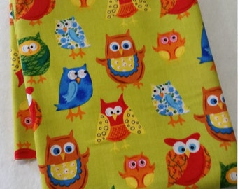 Forest Friends owl fabric - remnant