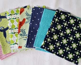 Set of 7 fat quarters #017