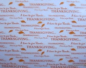Happy Thanksgiving Chocolate Transfer Sheet