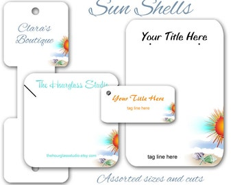 Earring Cards - Custom Display Jewelry Cards -   Beach Theme -  Necklace Display -  Tags -  Product Display - Fold Over Tags - Hang Tags