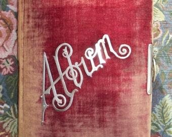Victorian Album, Merlot Velvet, Empty - for Cabinet Cards, CDVs / Tintypes, Empty