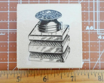 Perfume Bottle Rubber Stamp NEW