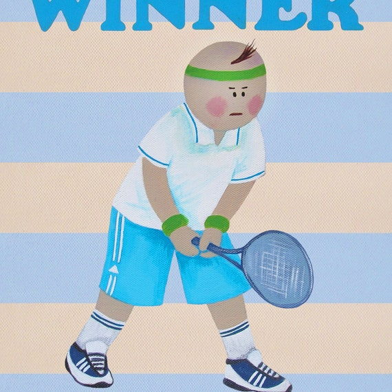 Tennis print, Tennis poster, Tennis gifts, Baby boy sports nursery, Baby boy room decor, Nursery art boy, Tennis coach, Coach gift idea
