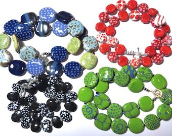 Kazuri Necklaces, Four Clearance Necklaces