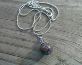 Natural Charoite Charm Necklace