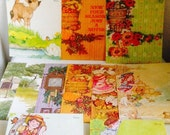 Vintage Stationery, Never Used, 13 Tri Fold Current Blank Note Cards for All Seasons, Adorable, Classic, Cottage, Country
