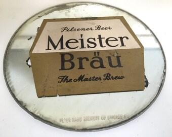 Vintage Meister Brau Beer Small Mirror