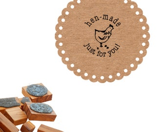 Hen Made  - Just For You! -  Olive Wood Stamp