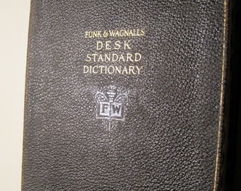 Vintage FUNK and WAGNALLS Desk Standard Dictionary 1919