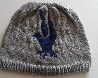 Ravenclaw beanie, harry potter, navy grey beanie, adult/teen hat