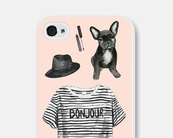 Dog Lovers Gift iPhone 6 Case French Bulldog Phone Case iPhone 6s Case Paris iPhone 6 Case Cute Samsung Galaxy S6 Case iPhone 6 Plus Case