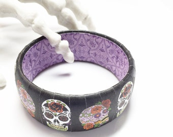 Sugar Skull Bracelet - Sugar Skull Jewelry - Day of the Dead Jewelry - Halloween Jewelry - Skull Bracelet - Dia De Los Muertos Jewelry