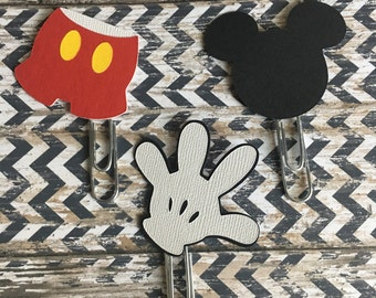 Mickey Mouse Planner paperclip. Pick one