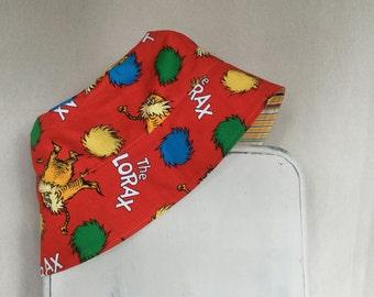 Sun Hat with Straps, Toddler Sun Hat, Kids Sun Hat, Toddler Bucket Hat, Baby Sun Hat, Beach Hat, Lorax, Girl Sun Hat, Boy Sun Hat