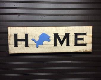 Detroit Lions HOME plaque, sign