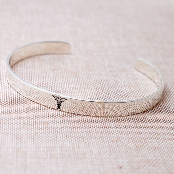 Sterling Silver Medical Id Bracelet Personalized Cuff