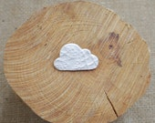 Tiny Porcelain Cloud Brooch, Ceramic Jewellery, Mrs Peterson Pottery