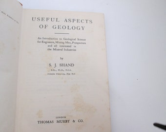 Useful Aspects of Geology by S. J. Shand