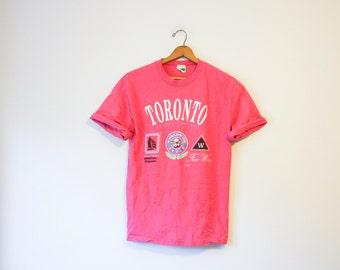Vintage Pink Toronto Canada T Shirt