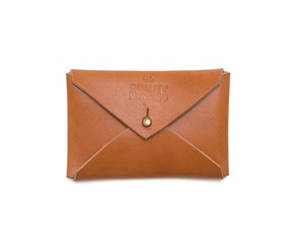 QMC Handmade Leather Card Envelope