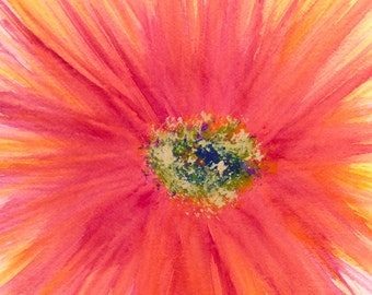 Radiant Flower Abstract Art Print