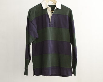 vintage 90s POLO long sleeve RUGBY style shirt
