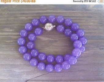 20% OFF ON SALE Purple Agate Hand Knotted Necklace, Gemstone Jewelry