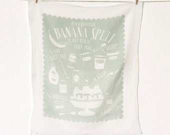 Banana Split Flour Sack Kitchen Towel