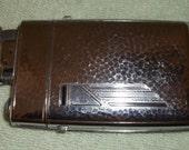 Vintage Art Deco 1940's  EVANS Cigarette Case with Attached Lighter
