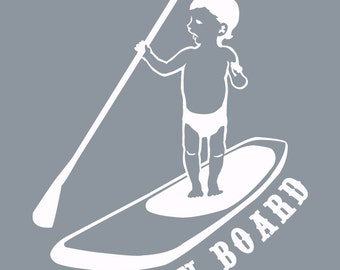 Baby on Stand Up Paddle Board