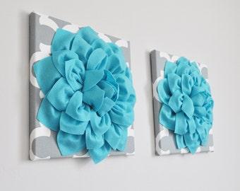 Home Decor Wall Art - Decorative Flower Custom Wall Art Nursery Wall Hanging Felt Choose your Own Colors